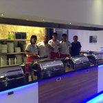 Jasmin Chefs in their brand new open plan kitchen