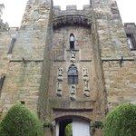 Imposing facade of Lumley Castle