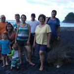 The Fam at Rosalie Bay after seeing the Leatherback turtle hatchlings!