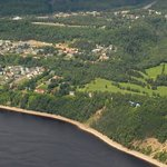Aerial view of the Club de Golf Tadoussac (Photo: Jean-Pierre Bonin)