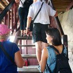 Steep Stairs up Pagoda