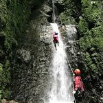 rappelling the last waterfall