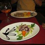 fegato alla veneziana e insalata di polipo