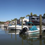 Dock your boat right behind your campsite