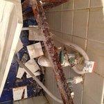 Bathroom Sink - Rust on Unit