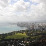 View of Honolulu from the top of Diamond Head