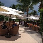 Dune Burger Bar Restaurant - Tiki bar is just beyond