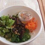 Soy glazed mushroom vermicelli bowl
