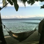 Hammock view of the beach at Sunset at Aninuan