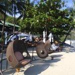 Beautiful beach amenities