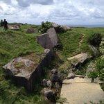 Destroyed German ammo bunker on Pointe Du Hoc