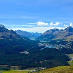 View to High Engadin, from Muottas Muragl - September, 2013