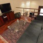 Upper level of duplex room at Pau Claris, Barcelona, Spain.