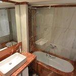 Bathroom in duplex room at Pau Claris, Barcelona, Spain.