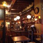 The inside of the bar/restaurant