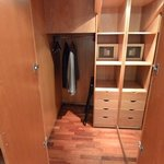 Closet in duplex room at Pau Claris, Barcelona, Spain.