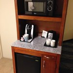 microwave and  refrigerators