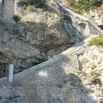 The many stairs from the beach to Marincanto