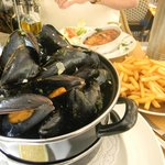 Mussels and French Fries- The best!