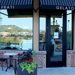 Frati Gelato Cafe Entrance on the Napa Riverfront Promenade