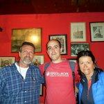 con Antonio y Eli en Zum Brandanfang