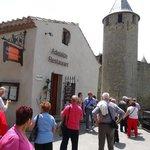 le restaurant place St.Jean dans la cité de Carcassonne