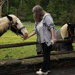 The horses know Emma!