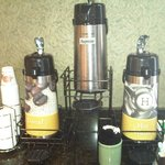 Breakfast room coffee station
