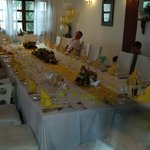 Thanks bambos for making our table look so beautiful and balloons looked great too