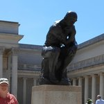 "Rodin's ""The Thinker"" in the Museum Courtyard."