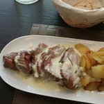 Beef fillet in creme and rosemary sauce...