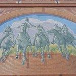 Outside wall mural, beautifull done.