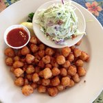 Scallops and cole slaw