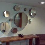 Mirrors at corridor