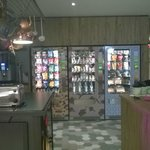Vending machines in the lounge area