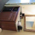 Coffee/Tea Mini Refrigerator Area