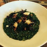 pea and parsley risotto