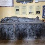 dead guy burreid in church
