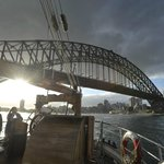 Returning from our little extra cruise beyond the Harbour Bridge
