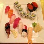 delux dinner sushi