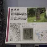石碑の解説板 (一例)