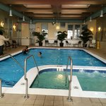 Pool & Jacuzzi fitness room is to the left