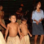 Kichwa Children Dancing at the Lodge