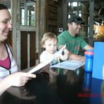 Amanda, Grandboy & Tommy at the Fish House