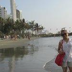 Playa frente al hotel Decameron Cartagena