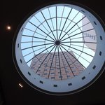 beautiful lobby skylight
