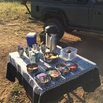 morning snack on game drive