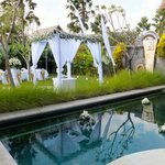 Wedding decoration - private pool