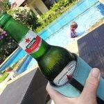 Poolside service at Vila Jaya and the kids having a swim. Win win I say.