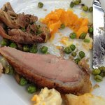 Overcooked and chewy duck & vegetables